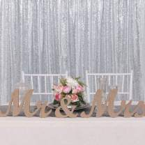 Silver Sequin Photography Backdrops 7ft x 7ft Glitter Backdrop Photo Booth for Wedding Party Background Shower Curtain Decorations