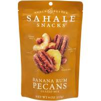 Sahale Snacks Banana Rum Pecans Glazed Mix, 4 Ounces (Pack of 6)