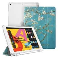 """Fintie Case with Pencil Holder for iPad 7th Generation 10.2 Inch 2019 - Slim Shell Lightweight Cover with Translucent Frosted Stand Hard Back, Supports Auto Wake/Sleep for iPad 10.2"""", Blossom"""
