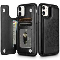 HianDier Wallet Case for iPhone 11 6.1-inch Slim Protective Case with Credit Card Slot Holder Flip Folio Soft PU Leather Magnetic Closure Cover for 2019 iPhone 11 iPhone XI, Mandala Black