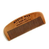 Mystic Man Handmade Wooden Beard Comb – Fine Tooth Detangling Tool