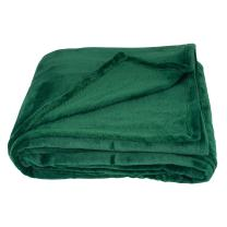 SOCHOW Flannel Fleece Blanket Throw Size, All Season Super Soft Cozy Blanket for Bed or Couch, Green