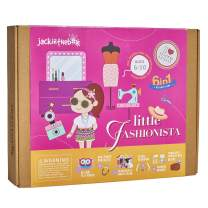 Fashion Themed Art and Craft Kit for Girls | 6 Craft Projects in 1 Box | Best Girl Gift for Ages 4 5 6 7 8 Years | Includes Beautiful Felt and Foam Embellishments (Little Fashionista 6-in-1)