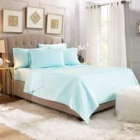 6 Piece Cal King Sheets - Bed Sheets Cal King Size – Bed Sheet Set Cal King Size - 6 PC Sheets - Deep Pocket Cal King Sheets Microfiber Bedding Sets Hypoallergenic Sheets - Cal King - Light Baby Blue