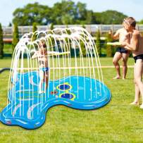 """Soopotay Splash Pad for Toddlers & Kids, Splash Play Mat 68"""" for 1 2 3 4 5 Year Old Boy Girl, Water Sprinkler Pad for Children Outdoor Play-Octopus, Blue"""