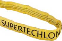 """Mazzella Supertechlon Polyester Round Sling, Endless, Yellow, 10' Length, 2 1/8"""" Width, 9000 lbs Vertical Load Capacity"""