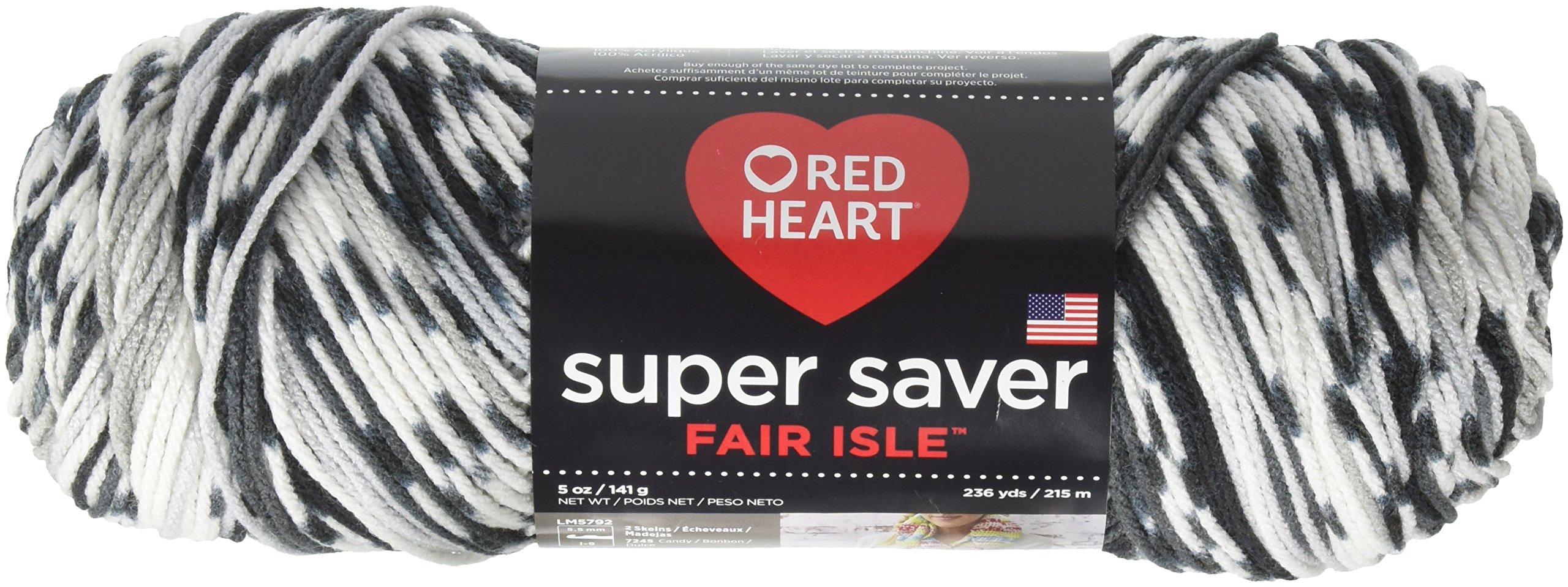 Red Heart Super Saver Yarn, Fair Isle - Newspaper