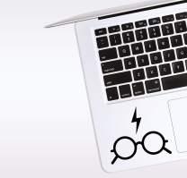 World Design Wizard Glasses Laptop Corner Decal