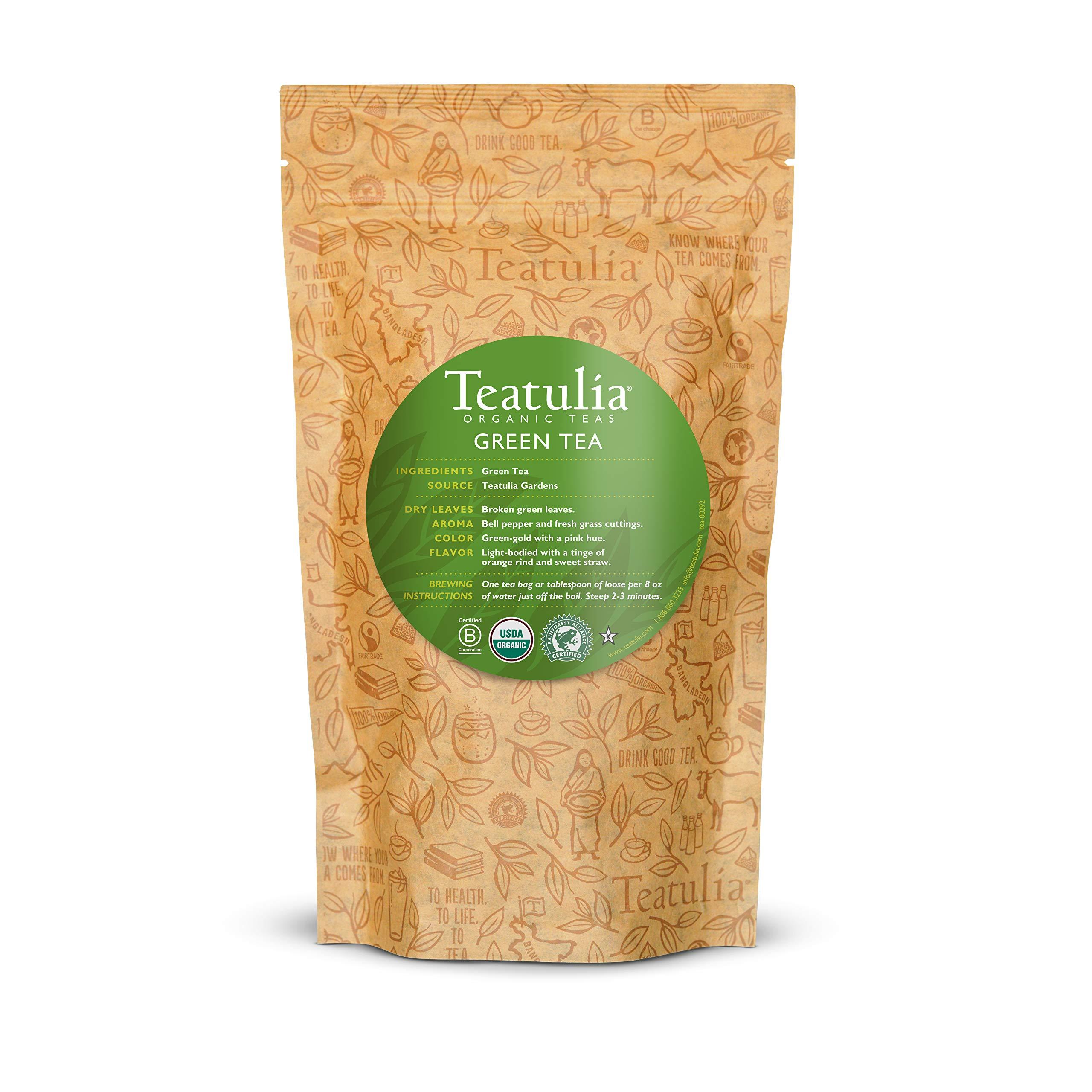 Teatulia Organic Loose Leaf Green Tea - 1lb