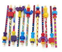 Pencil Finger Fidget Toppers with Pencils (Assorted Styles) (Set of 12)