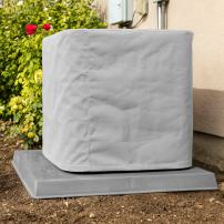"""SugarHouse Outdoor Air Conditioner Cover - Premium Marine Canvas - Made in The USA - 7-Year Warranty - 34"""" x 46"""" x 34"""" - Gray"""