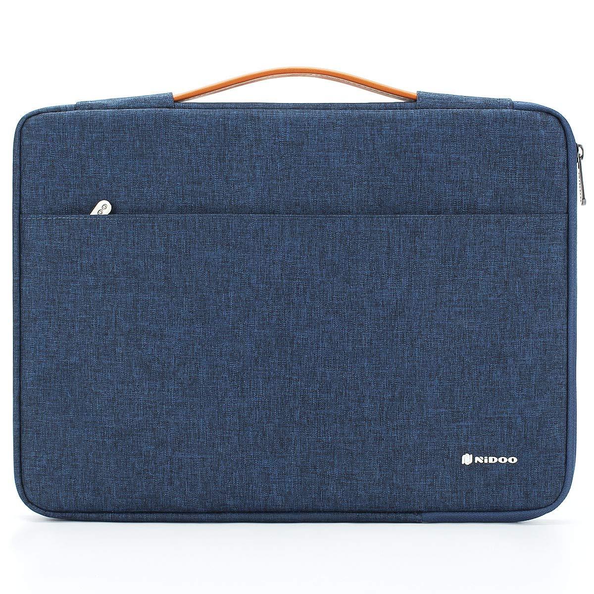 "NIDOO 11"" Laptop Sleeve case Notebook Bag Protective Handbag for 12.9"" iPad Pro 2018/13"" MacBook Air 2018/13"" MacBook Pro Touch Bar / 12.3"" Surface Pro 6 4 7/13"" Huawei MateBook 13 2020, Blue"