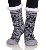 Dosoni Women Fuzzy Slipper Socks Winter Soft Warm Fleece Lining Christmas Gift Socks