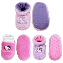 Infants Toddler Soft Warm Plush Cozy Fuzzy Cartoon Animal Slippers Booties Non-Slip Lined Socks Shoes - A18