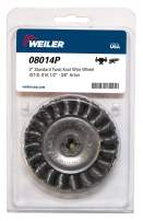 """Weiler 08014P 3"""" Standard Twist Knot Wire Wheel.014"""" Steel Fill, 1/2""""-3/8"""" Arbor Hole, Made in The USA (Pack of 5)"""