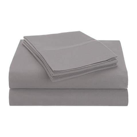 Superior 1500 Series Premium Quality 100% Brushed Soft Microfiber 3-Piece Luxury Deep Pocket Cooling Bed Sheet Set, Hypoallergenic, Wrinkle and Stain Resistant - Twin, Silver