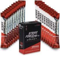 Strike Force Energy Drink Mix - Healthy Water Enhancer + Caffeine, Vitamin b12 & Potassium - Natural Tasting Flavor for Keto, Sugar Free & Vegan Diets. 10 Liquid Energy Packets - Original Flavoring