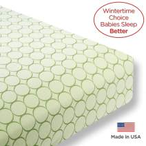SwaddleDesigns Fitted Crib Sheet/Toddler Sheet, Baby Sleeps Better on Softest Cotton Flannel, Made in USA, Pure Green Jewel Tone Mod Circles