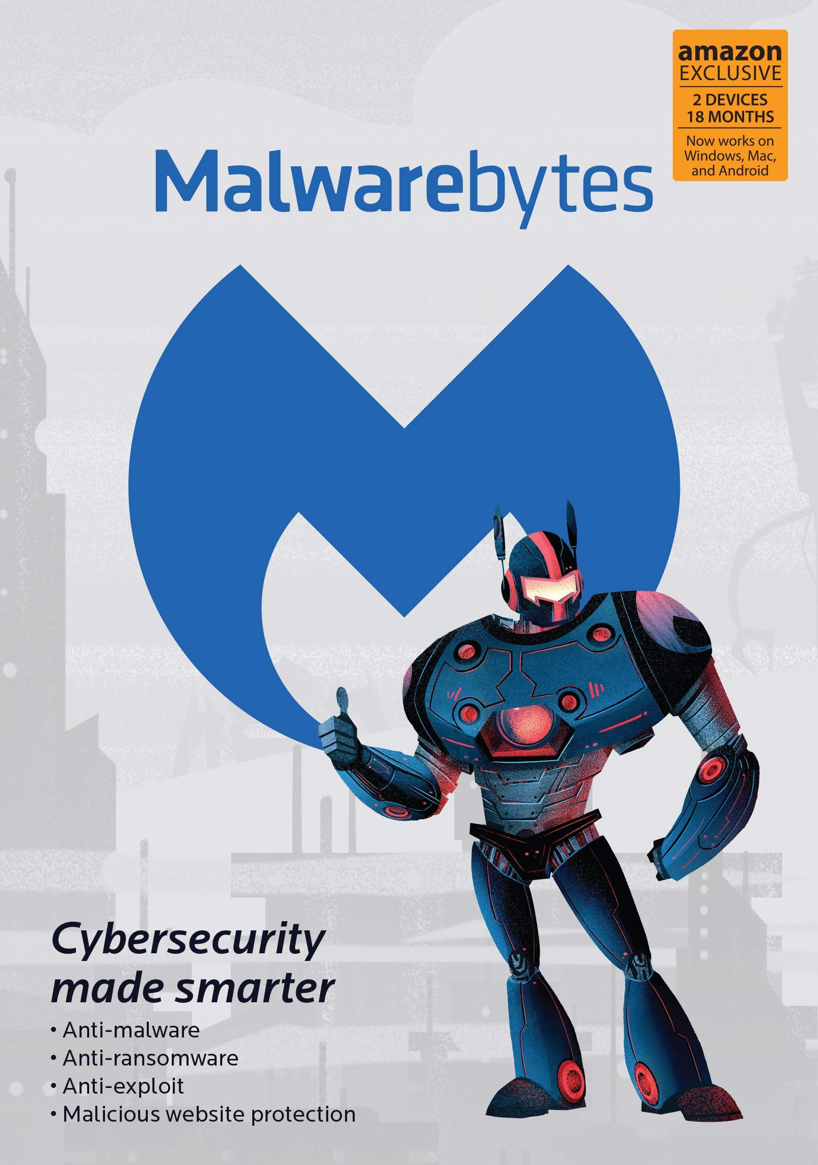 Malwarebytes 4.0 Latest Version   Amazon Exclusive   18 Months, 2 Devices (PC, Mac, Android) [software_key_card]…