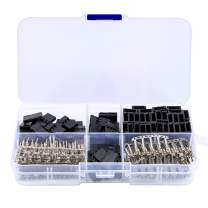 Readytosky Servo Plug Male Female Connector Universal Servo Cable Wire Connector Crimp Pin Kit for JR Hitec(30 Sets)