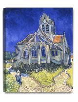 """DecorArts - The Church at Auvers, Vincent Van Gogh Art Reproduction. Giclee Canvas Prints Wall Art for Home Decor 20x16"""""""