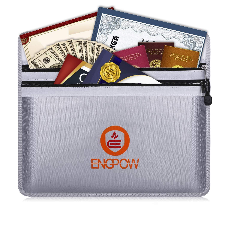 Fireproof Water Resistant Money Bag Safe Envelope Cash Box Document Bag Pouch