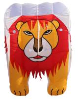 Fullfar Lion Large Kite for Adults , Soft Nylon Material Parafoil Kites . 244×39 inch Kite Easy to Fly with 195ft Kite Braided String and Backpack, Perfect 3D Kite for The Beach.