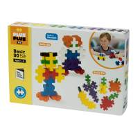 PLUS PLUS BIG - Open Play Set - 90 Piece - Basic Color Mix, Construction Building Stem Toy, Interlocking Large Puzzle Blocks for Toddlers and Preschool