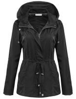 Zeagoo Women's Waterproof Lightweight Jacket Active Outdoor Hooded Anoraks Raincoat Windbreaker (4 Style S-XXL)