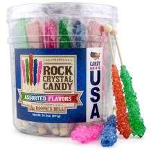 Boone's Mill   XL Rock Crystal Candy Sticks   Assorted Flavors   36 Count