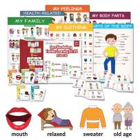 Little Champion Reader Teach Core Vocabulary Toddler Learning Kit 3 - Teaches Body Parts, Feelings, Family, Clothing and Health Vocabulary All-About-Me First Words