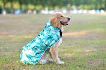 Comfortland Soft Winter Warm Dog Clothes, Cute Waterproof Pet Coat with Reflective Stripes, Cozy Windproof Puppy Raincoat with Colorful Patterns for Small Medium Large Dogs Cat, Green Camo