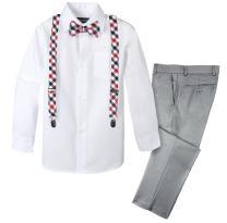 Spring Notion Boys' 4-Piece Dress up Pants Set