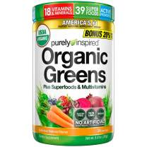 Purely Inspired Organic Super Greens Powder with Superfoods & Multivitamins