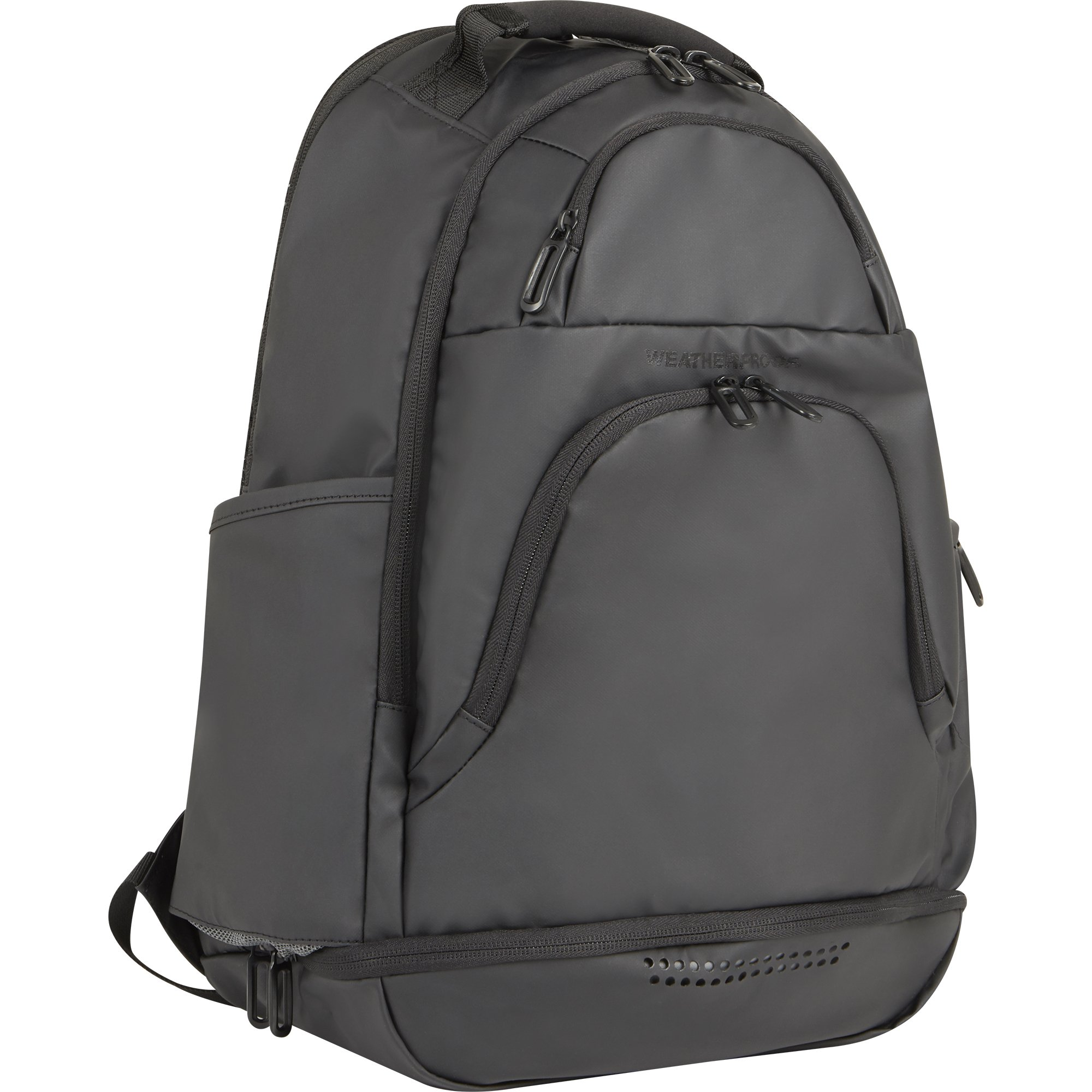 Weatherproof Men's Travel Carry-On Backpack, Black, One Size
