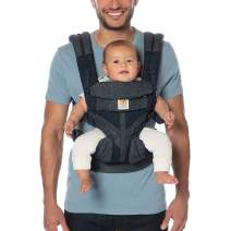 Ergobaby Carrier, Omni 360 All Carry Positions Baby Carrier with Cool Air Mesh, Blue Tweed