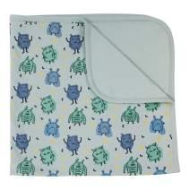 Finn + Emma Organic Cotton Reversible Baby Blanket - Monsters