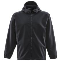 RefrigiWear Men's Lightweight Water-Resistant Warm Insulated Softshell Jacket with Hood