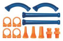 """Loc-Line Coolant Hose Extended Element Kit, Acetal Copolymer, 13 Piece, 1/4"""" Hose ID"""