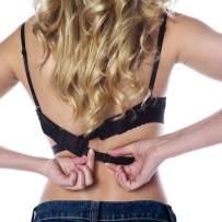Coco's Closet Low Back Bra – Adjustable Bra Extender for Backless Dress – 2, 3 Hook Strap Converter - Color Nude, Black