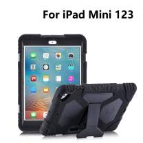 iPad Mini Case, Kids Case ACEGUARDER Full Body Protective Cover Impact Resistant Shockproof Scratchproof with Adjustable Kickstand for Apple iPad Mini 1/2/3 (Black)