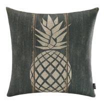 """TRENDIN 18"""" X 18"""" Vintage Black Color Big Pineapple Tropical Summer Fruits Linen Pillow Case Cushion Cover Decorative(PL070TR)"""