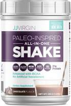 JJ Virgin Chocolate Paleo-Inspired All-In-One Shake - Paleo & Keto Friendly Protein Powder, 15 Servings