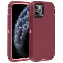 """Co-Goldguard Case for iPhone 11 Pro Max 2019 Heavy Duty Armor 3 in 1 Rugged Cover Shockproof Drop-Proof Scratch-Resistant Shell Compatible with iPhone 11 Pro Max 6.5"""",Purple+Pink"""