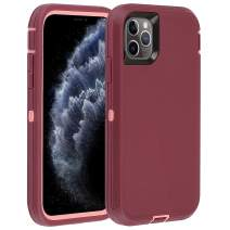 "Co-Goldguard Case for iPhone 11 Pro Max 2019 Heavy Duty Armor 3 in 1 Rugged Cover Shockproof Drop-Proof Scratch-Resistant Shell Compatible with iPhone 11 Pro Max 6.5"",Purple+Pink"