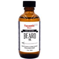 Taconic Shave's Premium All Natural Beard Oil - Excalibur Scent - Conditions, Softens and Adds Sheen - Made in The USA - 2 Ounce Bottle