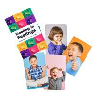 Dealing in Feelings Emotions Cards-Develops Ability to Understand and Express Emotions. Feeling Cards Increase Social Skills and Empathy. Flash Cards for Toddlers. Suitable for Autism.