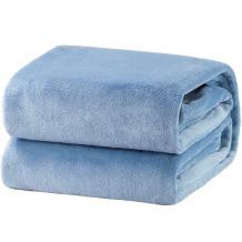 Bedsure Fleece Blanket Queen Size Washed Blue Lightweight Super Soft Cozy Luxury Bed Blanket Microfiber