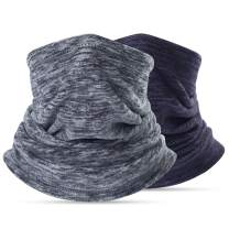 Neck Warmer Gaiter, Polar Fleece Ski Face Mask Cover for Winter Cold Weather & Keep Warm 2Pcs