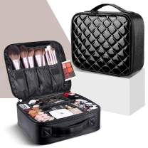 Makeup Bag,WDLHQC Travel Makeup Organizers and Storage Case,Portable Make up Bag Organizer Cosmetic Train